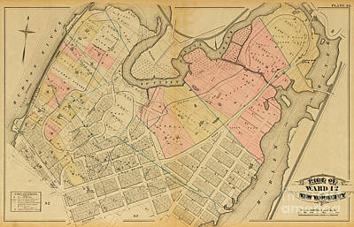 Art Print featuring the photograph 1879 Inwood Map  by Cole Thompson