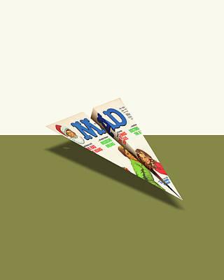 188 Mad Paper Airplane Art Print