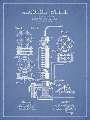 Whiskies Digital Art - 1880 Alcohol Still Patent Fb81_lb by Aged Pixel