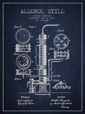 Whiskies Digital Art - 1880 Alcohol Still Patent Fb81_nb by Aged Pixel
