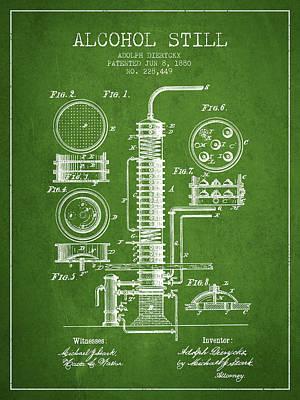 Whiskies Digital Art - 1880 Alcohol Still Patent Fb81_pg by Aged Pixel
