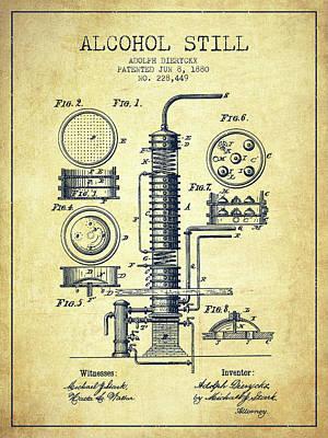 Whiskies Digital Art - 1880 Alcohol Still Patent Fb81_vn by Aged Pixel