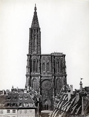 Photograph - 1880 Stasbourg Cathedral Alsace France by Historic Image
