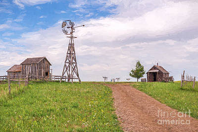 Photograph - 1880's Farm Painted by Sharon Seaward