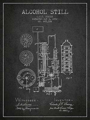 Whiskies Digital Art - 1882 Alcohol Still Patent Fb80_cg by Aged Pixel