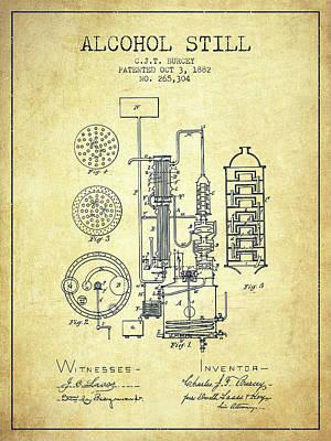Whiskies Digital Art - 1882 Alcohol Still Patent Fb80_vn by Aged Pixel