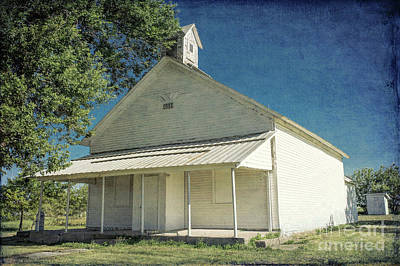 Photograph - 1882 Kansas School by Lynn Sprowl