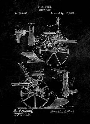 1882 Sulky Plow Patent Art Print