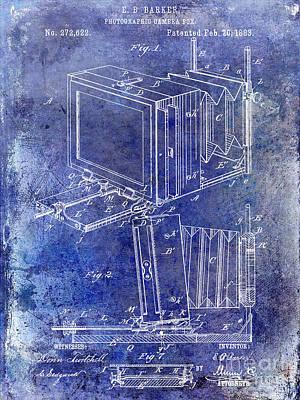 35mm Photograph - 1883 Camera Patent Blue by Jon Neidert