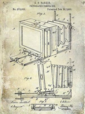 35mm Photograph - 1883 Camera Patent by Jon Neidert
