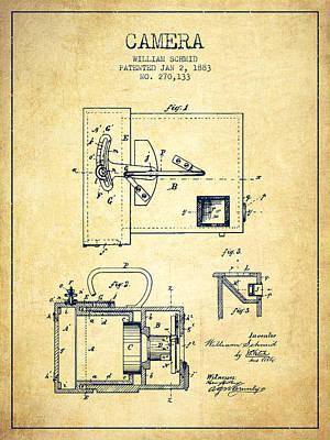 1883 Camera Patent - Vintage Art Print