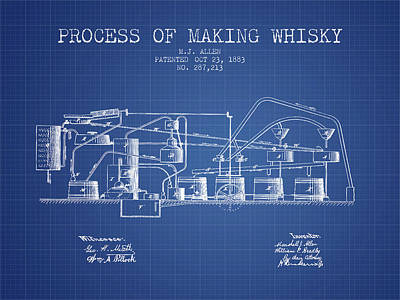 Scottish Digital Art - 1883 Process Of Making Whisky Patent Fb76_bp by Aged Pixel