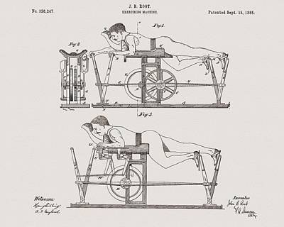 Mixed Media - 1885 Exercise Apparatus Illustration by Dan Sproul