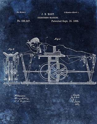 Muscle Mixed Media - 1885 Exercise Machine Patent by Dan Sproul