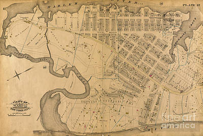 Photograph - 1885 Inwood Map  by Cole Thompson