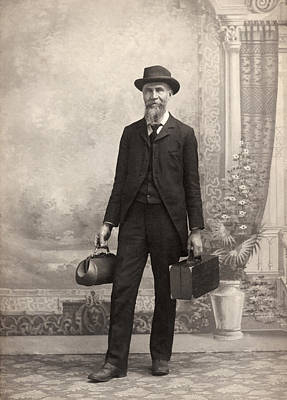 Medicine Bags Photograph - 1885 Portrait Of A Doctor by Underwood Archives