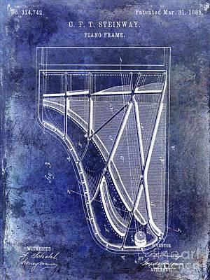 Piano Photograph - 1885 Steinway Piano Patent by Jon Neidert