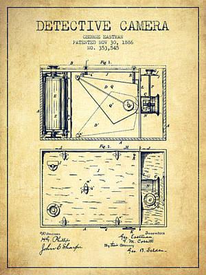 1886 Detective Camera Patent - Vintage Art Print