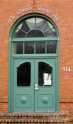 Photograph - 1886 School House Doors by D Hackett
