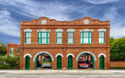 Photograph - 1887 Charleston Fire Station - 1 by Frank J Benz