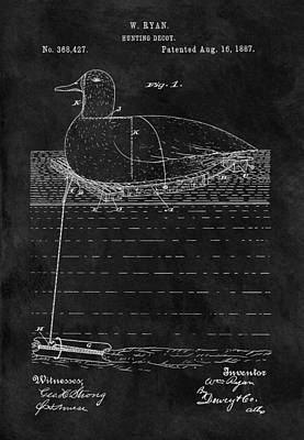 1887 Duck Decoy Patent Art Print by Dan Sproul