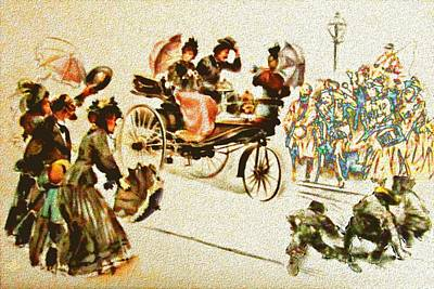 Digital Art - 1888 Benz by Cliff Wilson