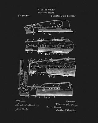 Drawing - 1888 Surgeon's Splint Patent by Dan Sproul