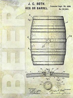 1889 Beer Barrel Patent Art Print