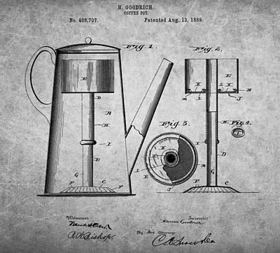 1889 Coffee Pot Patent Art Print