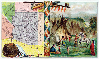 Painting - 1889 The State Of Arizona by Historic Image