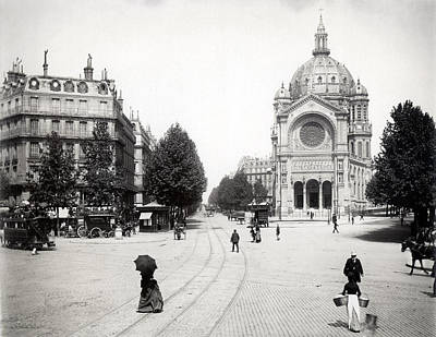 Photograph - 1890 Boulevard Haussmann Paris France by Historic Image