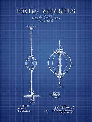 1890 Boxing Apparatus Patent Spbx17_bp Art Print