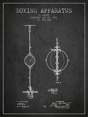 Punch Digital Art - 1890 Boxing Apparatus Patent Spbx17_cg by Aged Pixel