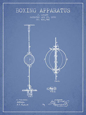 Punch Digital Art - 1890 Boxing Apparatus Patent Spbx17_lb by Aged Pixel