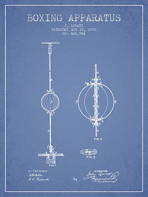 1890 Boxing Apparatus Patent Spbx17_lb Art Print