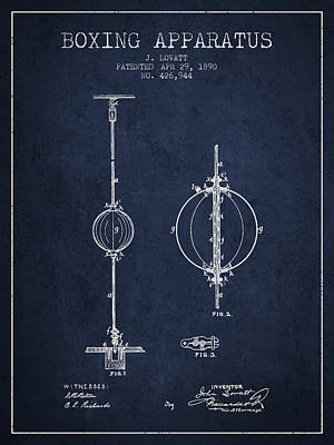 1890 Boxing Apparatus Patent Spbx17_nb Art Print