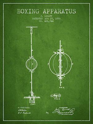 1890 Boxing Apparatus Patent Spbx17_pg Art Print