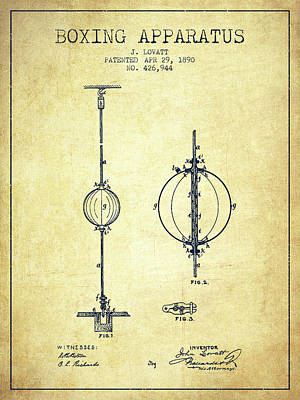 Boxing Digital Art - 1890 Boxing Apparatus Patent Spbx17_vn by Aged Pixel