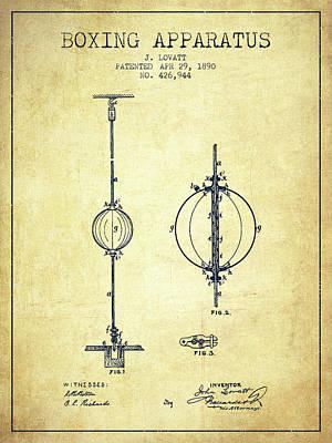 1890 Boxing Apparatus Patent Spbx17_vn Art Print
