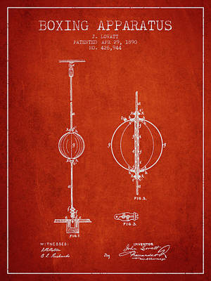 1890 Boxing Apparatus Patent Spbx17_vr Art Print by Aged Pixel