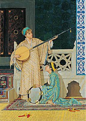 Painting - 1890 Musical Painting by Munir Alawi