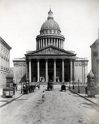 Photograph - 1890 The Pantheon Of Paris France by Historic Image
