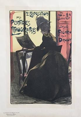 1890s Original French Art Nouveau Maitre De L'affiche Poster, Exposition Peintres - Gottlob Original