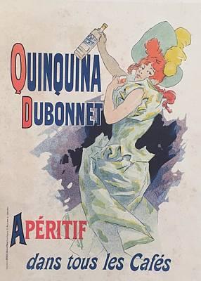 1890s Original French Art Nouveau Maitres De L'affiche Poster, Quinquina Dubonnet, Plate 29 By Chere Original by Jules Cheret