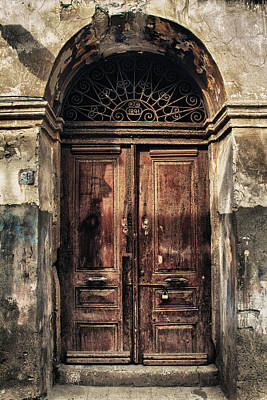 Old Brick Building Photograph - 1891 Door Cyprus by Stelios Kleanthous