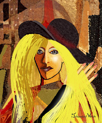 Digital Art - 1891 - Very Blonde Woman 2017  by Irmgard Schoendorf Welch