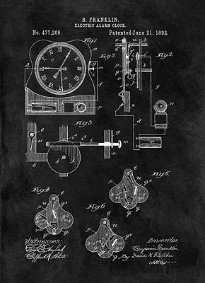 Minutes Mixed Media - 1892 Electric Alarm Clock by Dan Sproul