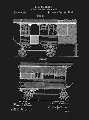 1892 Photography Wagon Patent Art Print