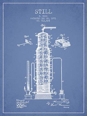 Whiskies Digital Art - 1893 Still Patent Fb82_lb by Aged Pixel