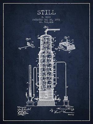 Whiskies Digital Art - 1893 Still Patent Fb82_nb by Aged Pixel